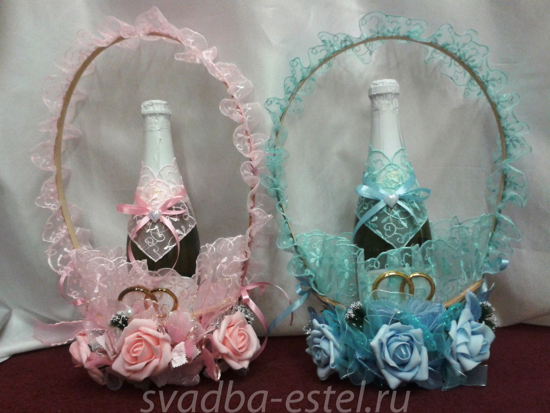 Как украсить свадебную бутылку шампанского своими руками фото 163